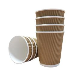 Cheap Stationery Supply of 12oz Belgravia Triple Walled Kraft Ripple Cups Office Statationery