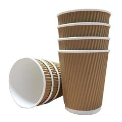 Cheap Stationery Supply of 16oz Belgravia Triple Walled Kraft Ripple Cups Office Statationery