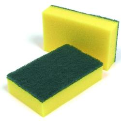 Cheap Stationery Supply of Abrasive Sponge Back Green Scourers Pack 10s Office Statationery