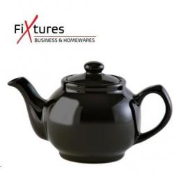Cheap Stationery Supply of Fixtures Black Gloss 2 Cup Teapot Office Statationery