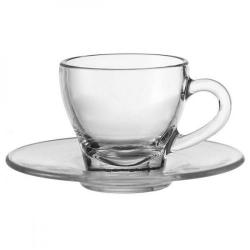 Cheap Stationery Supply of Fixtures Glass Espresso Cup & Saucer Set Office Statationery