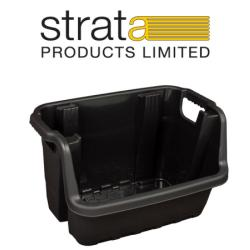 Cheap Stationery Supply of Strata Heavy Duty Stackable Crate Office Statationery
