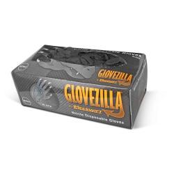 Cheap Stationery Supply of Glovezilla Black Powder Free Nitrile Gloves Pack 100s Office Statationery