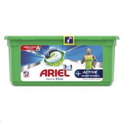 Cheap Stationery Supply of Ariel 3in1 Active Pods 24 Washes Office Statationery