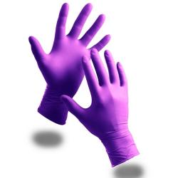 Cheap Stationery Supply of BClick 2000 Purple Powder Free Nitrile Gloves Pack 100s Office Statationery