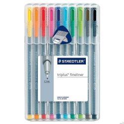Cheap Stationery Supply of Staedtler Triplus Fineliner Assorted 0.33mm Line Pack 10s Office Statationery