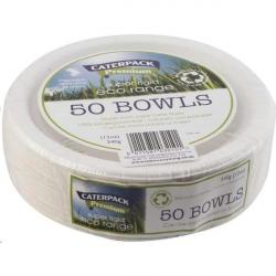 Cheap Stationery Supply of 12oz White Bio Bowls Pack 50s Office Statationery