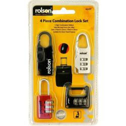 Cheap Stationery Supply of Rolson 4 Piece Combination Lock Set Office Statationery