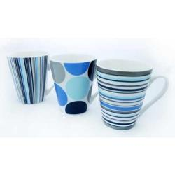 Cheap Stationery Supply of 11oz Blue Dots & Stripes Mug Office Statationery