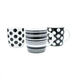Cheap Stationery Supply of Fixtures 12oz Black & White Pattern Mugs Office Statationery
