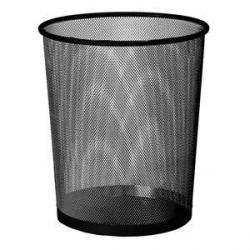 Cheap Stationery Supply of Osco Black Mesh 35cm Round Bin Office Statationery