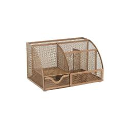 Cheap Stationery Supply of Osco Rose Gold Mesh Desk Organiser Office Statationery