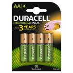 Duracell AA 1300MAH Recharge Plus Battery Pack 4s