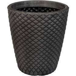 Cheap Stationery Supply of Strata Pewter Geometric Round Planter 35cm Office Statationery