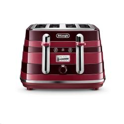 Cheap Stationery Supply of Delonghi Avvolta Class Red 4 Slice Toaster Office Statationery