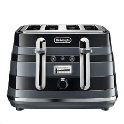 Cheap Stationery Supply of Delonghi Avvolta Class Black 4 Slice Toaster Office Statationery