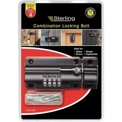 Cheap Stationery Supply of Sterling CLB110BK 110mm 4 Combination Locking Bolt Office Statationery