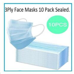 Cheap Stationery Supply of Disposable 3 Ply Surgical Face Mask Pack 10s Office Statationery