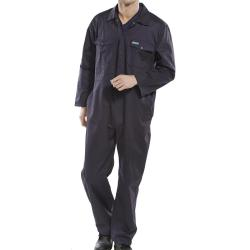 Cheap Stationery Supply of BClick Workwear Navy Boilersuit Office Statationery