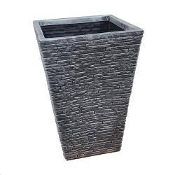 Cheap Stationery Supply of Strata Pewter Slate Square Planter 30cm Office Statationery
