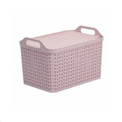 Cheap Stationery Supply of Strata Pink Medium Handy Basket With Lid Office Statationery