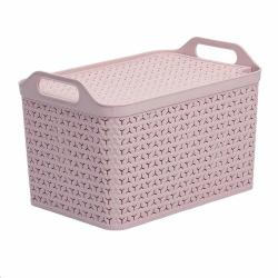 Cheap Stationery Supply of Strata Pink Large 21L Handy Basket With Lid Office Statationery