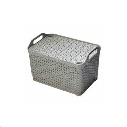 Cheap Stationery Supply of Strata Cool Grey Small Handy Basket With Lid Office Statationery