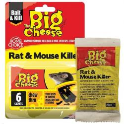 Cheap Stationery Supply of Big Cheese Rat & Mouse Killer Grain Bait 6x25g STV244 Office Statationery