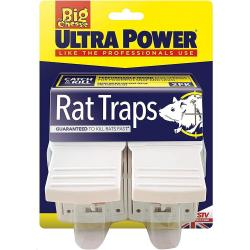 Cheap Stationery Supply of Big Cheese Ultra Power Rat Traps Twinpack STV149 Office Statationery
