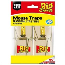 Cheap Stationery Supply of Big Cheese Traditional Style Traps 4 Pack STV040 Office Statationery
