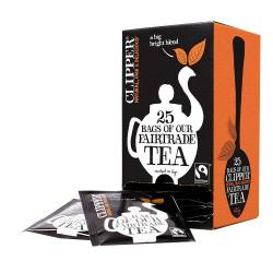 Cheap Stationery Supply of Clipper Fairtrade Everyday Enveloped Teabags 25s Office Statationery