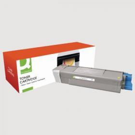 Q-Connect Oki Remanufactured Yellow Toner Cartridge 43872305