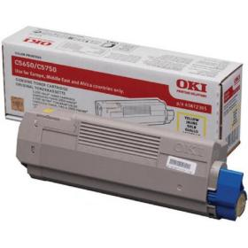 Oki Yellow Toner Cartridge (2,000 Page Capacity) 43872305