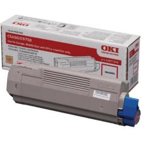 Oki Magenta Toner Cartridge (2,000 Page Capacity) 43872306