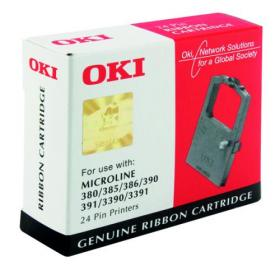 Oki Black Fabric Ribbon For Microline 390/391 9002309