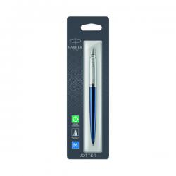 Cheap Stationery Supply of Parker Jotter Ballpoint Pen Royal Blue with Chrome Trim 1953209 Office Statationery