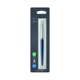 Parker Jotter Ballpoint Pen Royal Blue with Chrome Trim 1953209