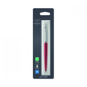 Parker Jotter Ballpoint Pen Kensington Red with Chrome Trim 1953241
