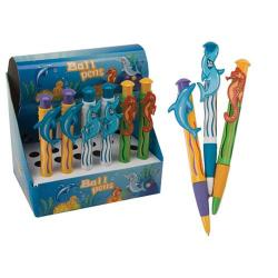 Cheap Stationery Supply of PMS Sealife Ballpoint Pens Assorted Display Unit of 24 Pens 138/353 Office Statationery