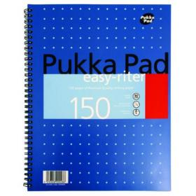 Pukka Pad Ruled Metallic Wirebound Easy-Riter Notepad 150 Pages A4 (Pack of 3) ERM009