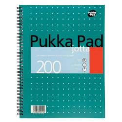 Cheap Stationery Supply of Pukka Pad Ruled Wirebound Metallic Jotta Notebook 200 Pages A4 (Pack of 3) JM018 Office Statationery