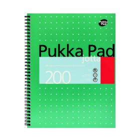 Pukka Pad Ruled Wirebound Metallic Jotta Notebook 200 Pages A4 (Pack of 3) JM018