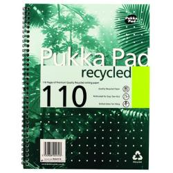 Cheap Stationery Supply of Pukka Pad Recycled Ruled Wirebound Notebook 110 Pages A4 (Pack of 3) RCA4100 Office Statationery