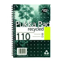 Cheap Stationery Supply of Pukka Pad Recycled Ruled Wirebound Notebook 110 Pages A5 (Pack of 3) RCA5110 Office Statationery