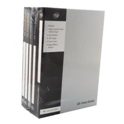 Cheap Stationery Supply of Pukka Casebound A5 Notebook Feint Ruled 192 Pages Silver Pack of 5 RULA5 Office Statationery