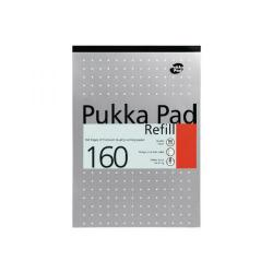 Cheap Stationery Supply of Pukka Pad Ruled Metallic Four-Hole Refill Pad Top Bound 160 Pages A4 (Pack of 6) 80/1 Office Statationery