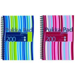 Cheap Stationery Supply of Pukka Pad Stripes Polypropylene Wirebound Jotta Notebook 200 Pages A5 Blue/Pink (Pack of 3) JP021 Office Statationery