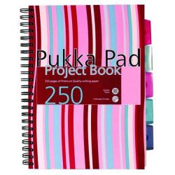 Cheap Stationery Supply of Pukka Pad Stripes Wirebound Hardback Project Notebook 250 Pages A4 Blue/Pink (Pack of 3) CBPROBA4 Office Statationery