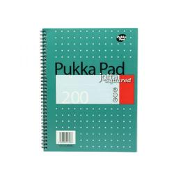 Cheap Stationery Supply of Pukka Pad Square Wirebound Metallic Jotta Notepad 200 Pages A4 (Pack of 3) JM018SQ Office Statationery