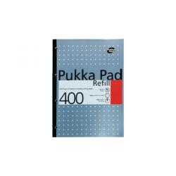 Cheap Stationery Supply of Pukka Pad Ruled Metallic Four-Hole Refill Pad Side Bound 400 Pages A4 (Pack of 5) REF400 Office Statationery